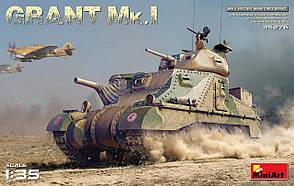 Сборная модель американского танка. GRANT Mk.I. 1/35 MINIART 35276