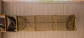 Садок рыболовный 2.5 метра квадратный прорезиненный
