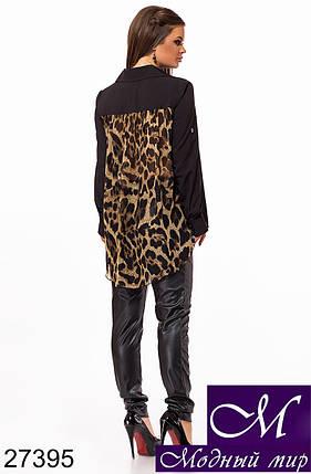 Женская черная рубашка (р. S, M, L) арт. 27395, фото 2