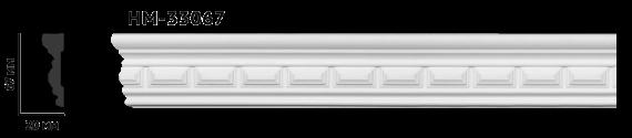 Молдинг для стен с орнаментом Classic Home HM-33067, лепной декор из полиуретана