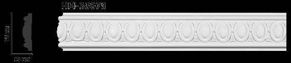 Молдинг для стен с орнаментом Classic Home HM-33075, лепной декор из полиуретана