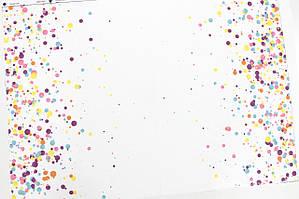 Панелька сатин Точки цветные 40*60 (серия карусель)