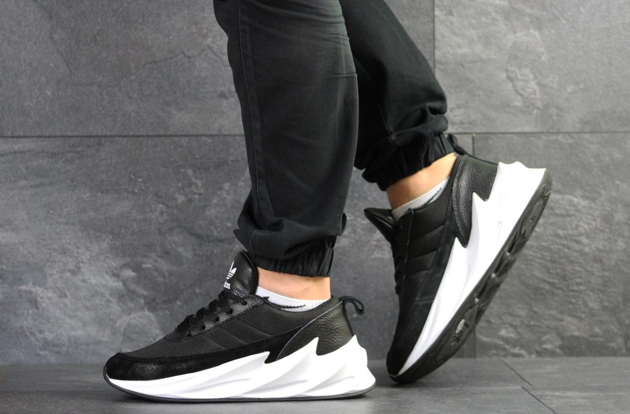Мужские модные кроссовки Adidas Sharks,черно-белые