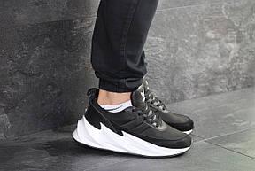 Мужские модные кроссовки Adidas Sharks,черно-белые, фото 2