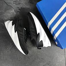Мужские модные кроссовки Adidas Sharks,черно-белые, фото 3