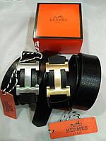 Кожаный ремень с пряжкой в стиле Hermes (Гермес)