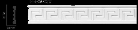 Молдинг для стен с орнаментом Classic Home HM-33079, лепной декор из полиуретана