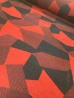 Ткань лоден (валяная шерсть) красный цвет