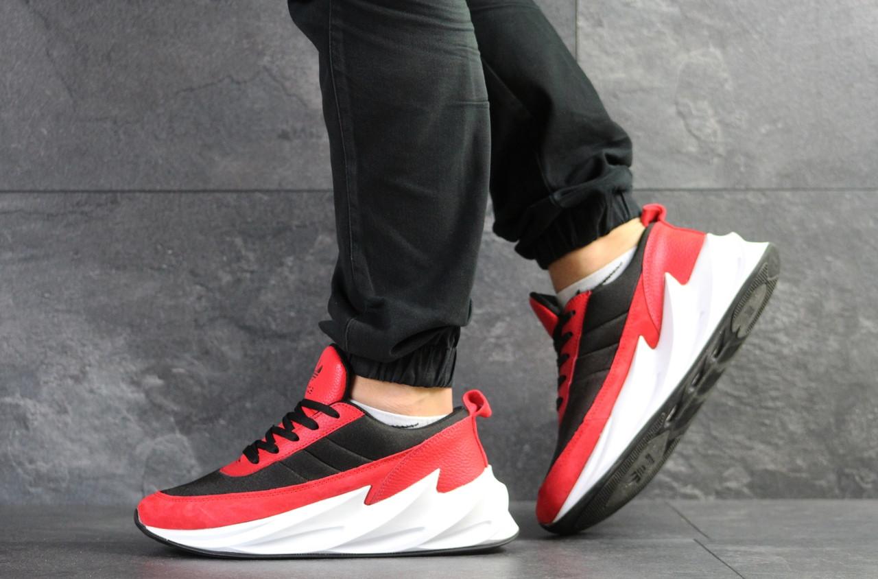 Мужские модные кроссовки Adidas Sharks,черные с красным