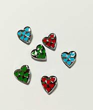 Украшения для наборных браслетов, именной браслет, наборной силиконовый браслет Сердце 6 мал. сердец