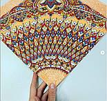 Солнышко 786-2, павлопосадский платок на голову хлопковый (саржа) с подрубкой, фото 3