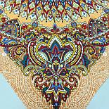Солнышко 786-2, павлопосадский платок на голову хлопковый (саржа) с подрубкой, фото 8