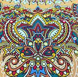Солнышко 786-2, павлопосадский платок на голову хлопковый (саржа) с подрубкой, фото 4