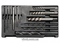 Екстрактор зломаних гвинтів і свердло по металу YATO, M3-M24, Ø1,4-15мм,  Набір 12 шт. [40] YT-0591