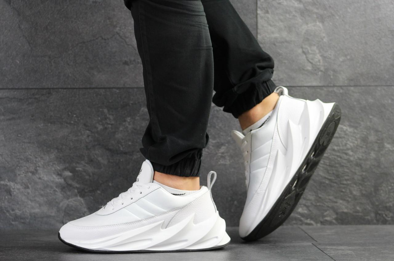 Мужские модные кроссовки Adidas Sharks,белые 44р