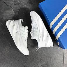 Мужские модные кроссовки Adidas Sharks,белые 44р, фото 3