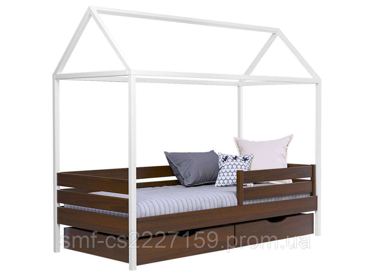 Ліжко Хатка Амі з натурального дерева  бук