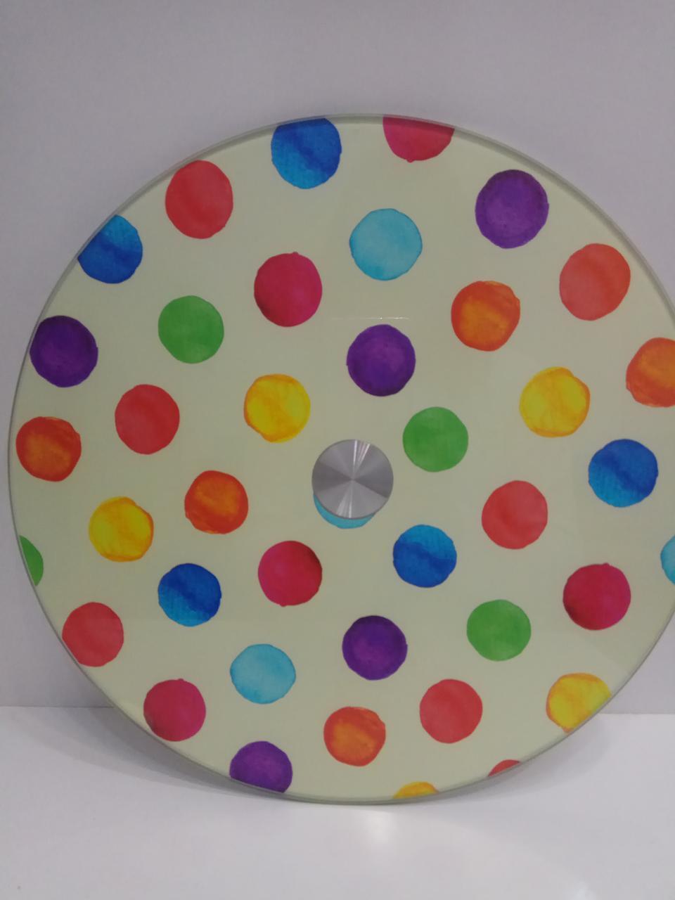 Подставка стол поворотная для торта стекло 30см