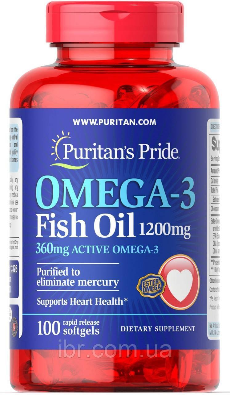 Puritan's Pride 30% Omega-3 Fish Oil 1200 mg 100 caps