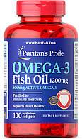 Витамины Puritan's Pride Omega-3 Fish Oil 1200 mg 100 caps