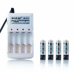 Зарядное устройство и аккумуляторы 4 шт. АА Jiabao JB-212 Белое