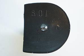 Каблук женский пластиковый 801 р.1-3  h-7,3-7,9 см., фото 3