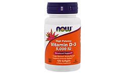 Вітаміни і мінерали NOW Vitamin D-3 5000 IU - 240 Softgels (caps.)