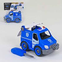 """Машина-конструктор 1357 """"Полиция""""(64/2) Play Smart, 21 деталь, звуковые эффекты, в кульке"""