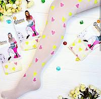 Капроновые колготки для девочки с сердечками 7-8 лет (122-128)Bross
