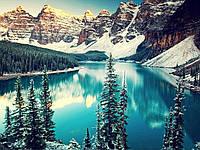 """Алмазная мозаика """"Озеро в горах"""", картина стразами 30*45см"""