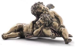 Статуетка Сплячі Янголята з полистоун, розмір 9см Veronese