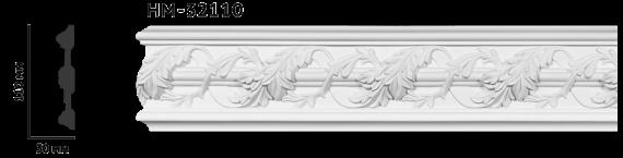 Молдинг для стен с орнаментом Classic Home HM-32110, лепной декор из полиуретана