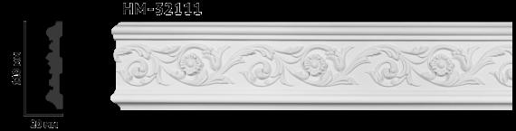 Молдинг для стен с орнаментом Classic Home HM-32111, лепной декор из полиуретана