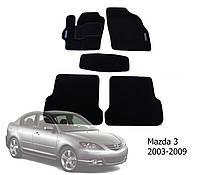 Коврики в салон Mazda 3 2003-2009 (5 шт.) Garda PP 4 SX черн. вышивка