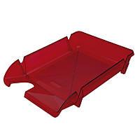 Лоток для бумаг горизонтальный пластик, ярко-красный