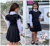 Красивый школьный сарафан для девочки с перфорацией.3 расцветки, фото 1