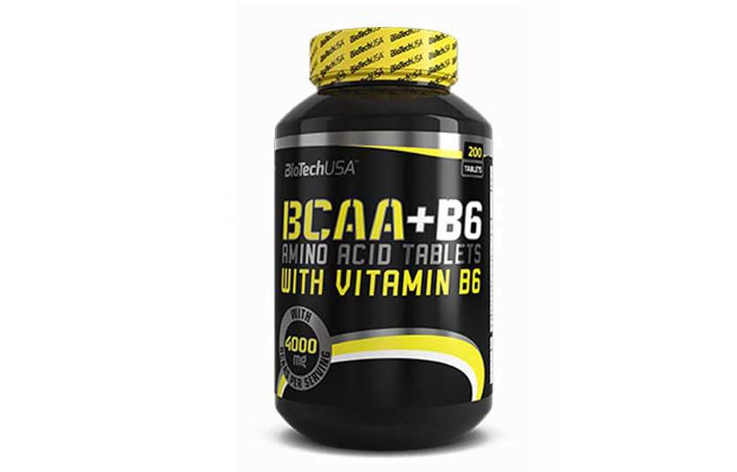 Амінокислоти BioTech USA BCAA + B6 200 tabs.