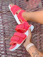 Женские Сандалии Adidas Adilette коралловые (реплика), фото 1
