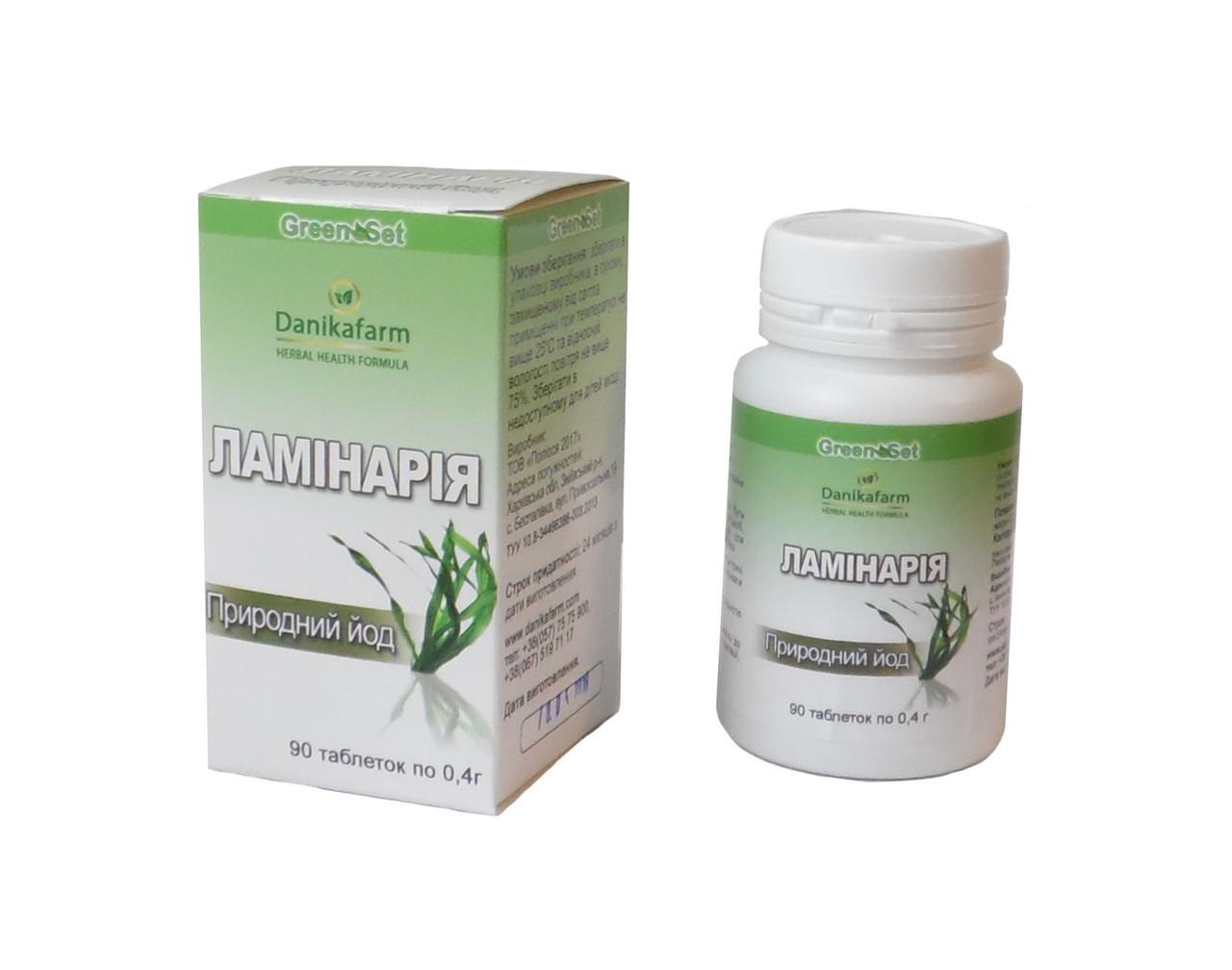 БАД Ламинария природный йод 90 таблеток Даникафарм