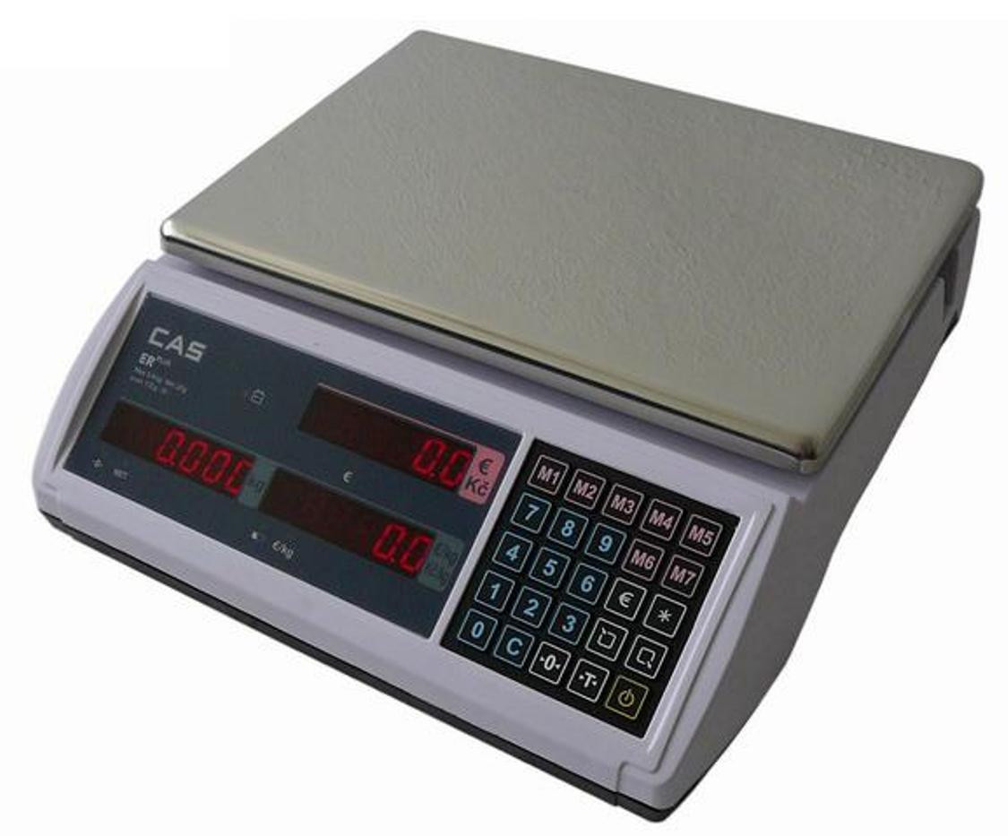 Торговые электронные весы со счетчиком цены CAS ER-PLUS E (6кг,15кг,30кг)
