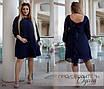 Платье свободного фасона короткое шифон+масло кристалл 48,50,52,54, фото 2