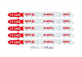 Пильное полотно для электролобзика (дерево, сталь) YATO Bi-Metal 6TPI 100 мм 5 шт YT-3400