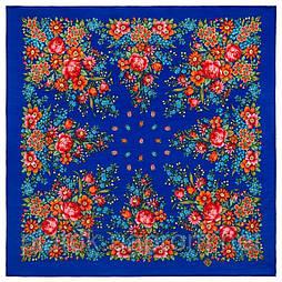 Мой садик 1878-13, павлопосадский платок шерстяной  с осыпкой (оверлоком)