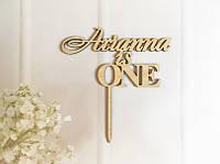 Топпер именной на День рождение Arianna is ONE