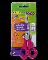 Ножницы детские для левши 142мм, розовые, KIDS Line ZB.5002-10 ZiBi (импорт)