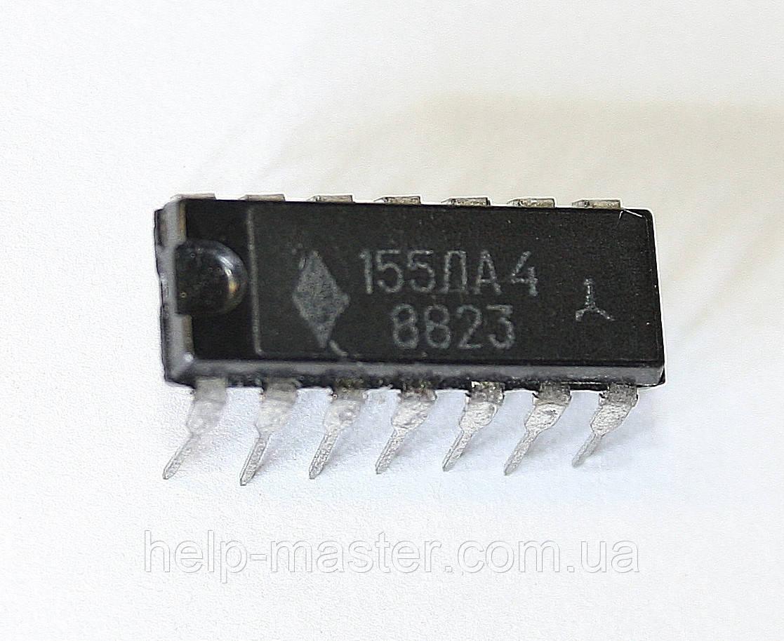 Микросхема 155ЛА4 (DIP-14)