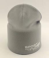 Детская шапка с 50 по 55 размер трикотажная двойная детские шапки демисезонные, фото 1