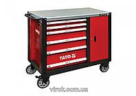 Шафа-візок для інструментів YATO з 6 шуфлядами, 1000x 1130x 570 мм  ШКАФ-ТЕЛЕЖКА ДЛЯ ИНСТРУМЕНТОВ YATO YT-0900