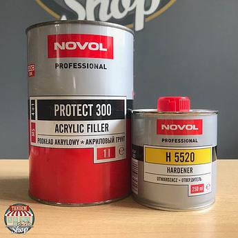 Грунт-наполнитель акриловый Novol Protect 300 MS 4:1, 1 л + 250 мл Комплект