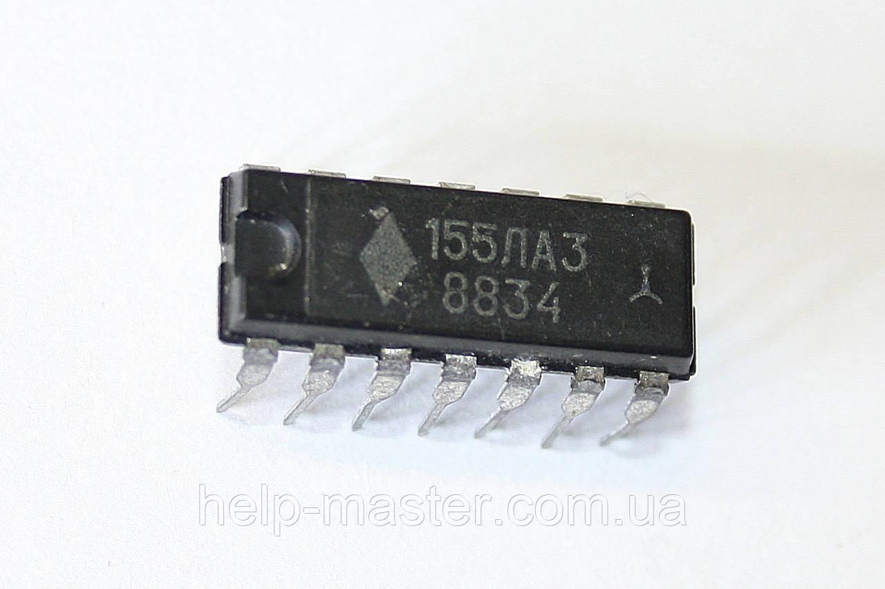 Микросхема 155ЛА3 (DIP-14)